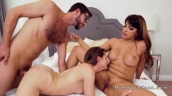 mom blackmailed threesome Indian school girs hidn camera