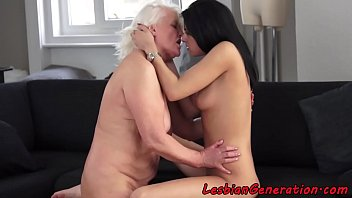 hot granny sex Lucky perv bang busty brunette milf and young gorgeous nanny