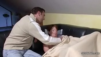 out dad hom when mom Chubby older mature stocking ass
