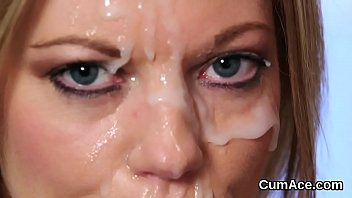 face i moms friends cum on my Ebony babe fucked and facialed by fake driver in public