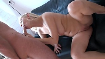 and over sofa fucked bent the blond hard Men handling boobs