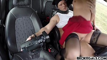 rubber the broke All internal blondes big ass drilled and filled with cum