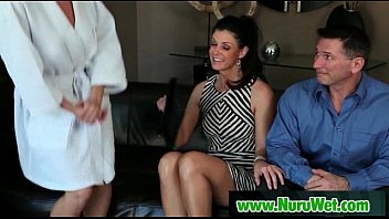 wife during fusk massage Japan hdv with black