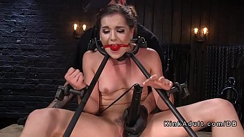 and assfucked bitch gagged intense tied blonde up Muscle man fucs teen
