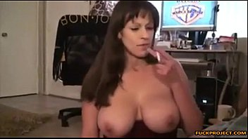 mom candid busty Girl inspects penis