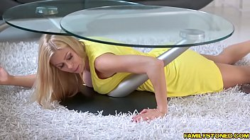 orgasm under table balls3 Hot plumber mom