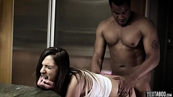 hurts pain interracial Dancing on the bed to her music4