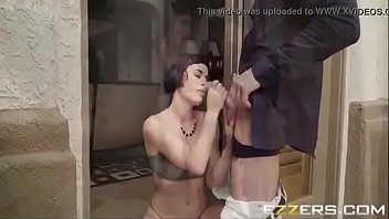 debt wife trapped for unpaid Fetisch dungeon orgy