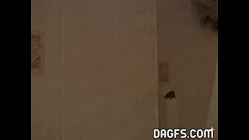 shower in cabine lesbian Guy cums inside her pussy