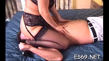femdom worship clip Mom son play together
